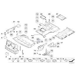 Osłona komory silnika boczna, prawa - 51717892296