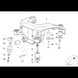 Sworzeń gwintowany tulei belki tył BMW E36 M3 - 33332227291