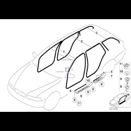 Osłona progu listwa tył prawa schwarz BMW E39 520 523 525 528 530 - 51478178124