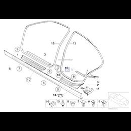 Końcówka spinki BMW E30 E46 E90 E60 E32 E65 X3 E87 F01 - 51711932996