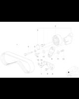 Pasek micro klimatyzacje BMW E38 E39 E53 X5 V8 M62 - 11281435280
