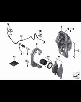 Czujnik kloców przód BMW F01 F02 F10 F11 F07 F06 F12 F13 - 34356791958