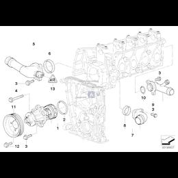 Uszczelka obudowy termostatu BMW E34 E36 E46 318i 316i 518i M43 - 11531437149