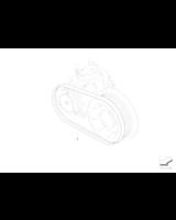 Pasek kompr. klimatyzacji BMW E60 E65 E90 - 64557793608