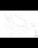 Absorber uderzenia przedni lewy - 51117898283