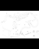 Końcówka przyłączeniowa krócic wodny BMW E46 316i 318i Z3 M43 - 11531709232