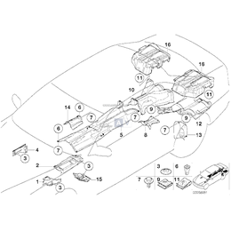 Bl. izol. ciepln. wsporn. silnika,prawa - 51488211947