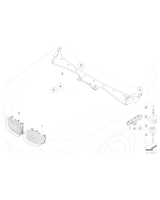 Atrapa nerka prawa BMW E60 E61 E60N E61N - 51137065702