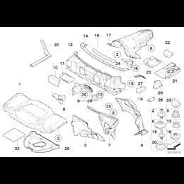 Izolacja dźwiękowa pokrywy silnika - 51487135244