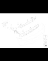 Absorber uderzenia tylny lewy - 51127062817