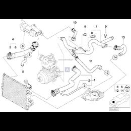 Przewód elastyczny układu chłodzenia - 11537787336