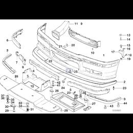 Kanał powietrza hamulca przedni lewy - 51712233361