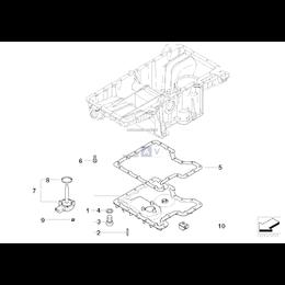 Uszczelka metalowa miski olejowej BMW E53 X5 4,4i 4,8is - 11137539582