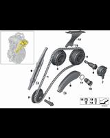 Łańcuch rozrządu BMW F20N F21N F22 F23 F30N F31N F32 F33 F34 F36 F39 F45 F46 F48 MINI F54 F55 G01 G11 G30 i8 - 11317617475