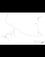 Guma stablizatora przód BMW E65 E66 730i 735i 745i z EDC - 31356753928