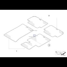 Kpl. dywaników gumowych, tył - 51470428954