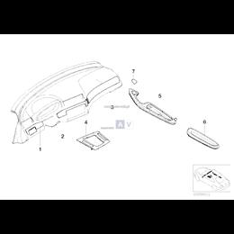 Spinka listwy wewnętrznej BMW E46 E65 E66 X3 E83N - 51458266814