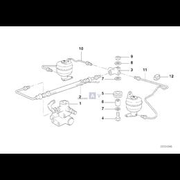 Przewód elastyczny ukł. kierowniczego BMW E38 725tds 728i 730i 735i 740i 750i - 37131091124