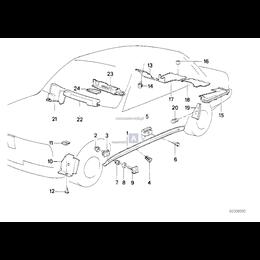 Osłona wiązki kabli silnikowych BMW E30 316i 316 318i 324d 318is 324td M3 M10 M40 - 51711380391