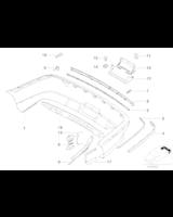 Listwa zderzaka tył prawa BMW E39 sedan 520 523 525 528 530 535 540 - 51128205250