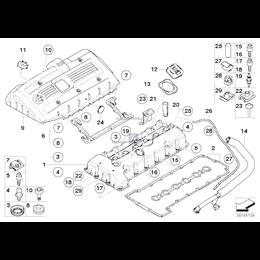 Przewód elastyczny odpowietrzający BMW E60N E61N E63N E65 E70 E81 E83 E84 E90 E91 E92 E93 - 11157559528
