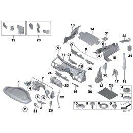Uszczelka poszycia prawa izolacja dźwiękowa BMW F34 F34N 318d 320d 328i 325d 335d 335i 340iX - 51477367278