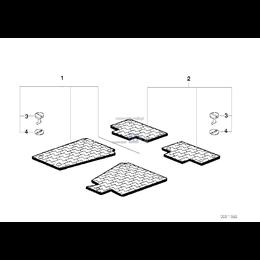 Kołek obrotowy dywaników 22,5mm ANTHRAZIT BMW E46 X5 E53 E83 X3 Mini - 51478243734