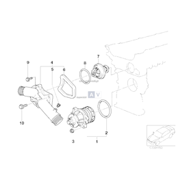 O-ring uszczelka pompy wody BMW E34 E36 E38 E39 E46 E53 X5 E83 X3 E60 E61 E65 E90 E92 E93 M5 M3 M6 - 11511711484