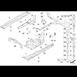 Osłona przewodu tylna lewa - 51718402135