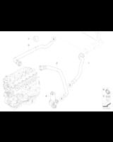 Przewód wody BMW E81 E84 E87 E88 E90 E91 E92 E93 316 318 320 325 330 335 116 118 120 123 - 64216928591
