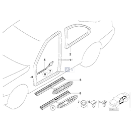 Listwa progu wewnętrzna prawa BMW E36 Coupe 316 318 320 323 325 328 M3 - 51478151392