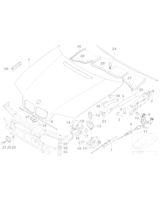 Siłownik amortyzator maski BMW E46 316 318 320 323 325 328 330 - 51238202688