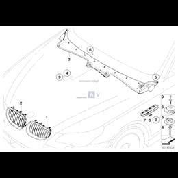 Osłona wlotu powietrza E60 E61 - Oryginał BMW - 51717027083