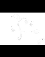 3. zagłówek fotela tylnego - 52207012129