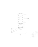 Pierścienie tłokowe BMW E60 E61 E83 E87 E90 E91 E92 E93 F10 F11 523i 323i 325i 116i 523i 525i - 11257561848