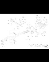 Uszczelka rury wydechowej BMW E60 E61 E63 E64 E65 E84 E81 E87 E90 E91 F01 F10 F11 F25 X3 - 18107549447