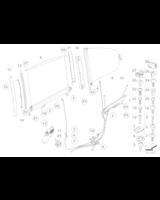 Adapter rolety przeciwsłonecznej, lewy - 51167013099