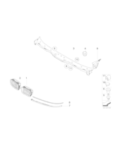 Listwa pod reflektor E39 prawa - Oryginał BMW - 51138168810