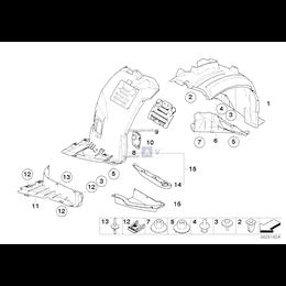 Osłona wnęki koła, przednia lewa - 51717154411